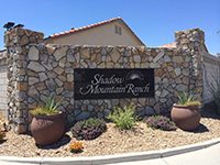 Photo of entrance with Shadow Mountain Ranch Sign