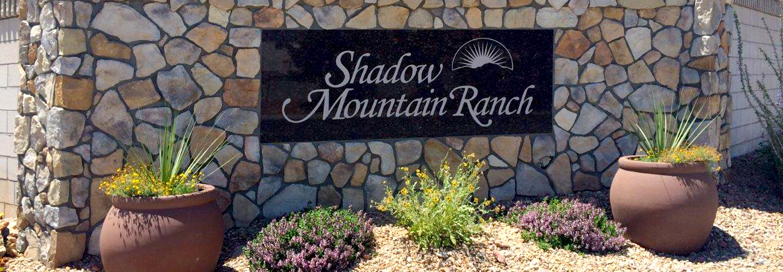Shadow Mountain Ranch Sign