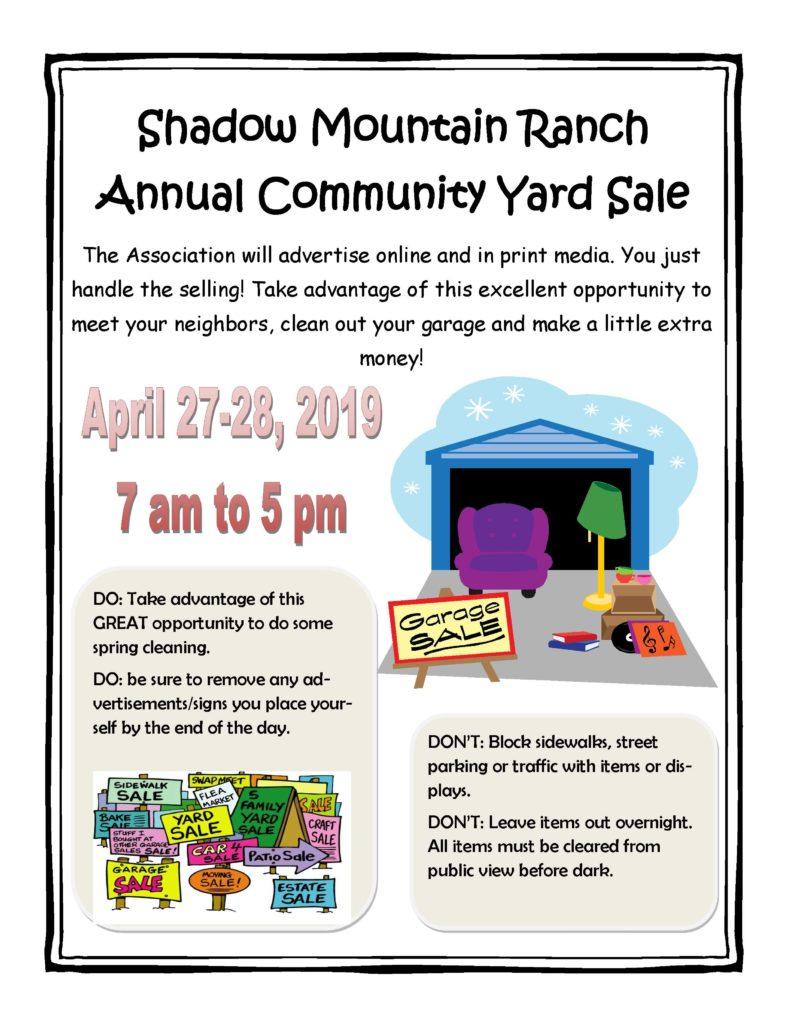 2019 Annual Community Yard Sale Flyer